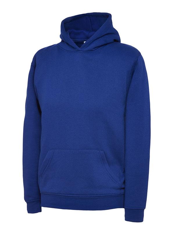 childrens hooded sweatshirt 300gsm UC503 royal