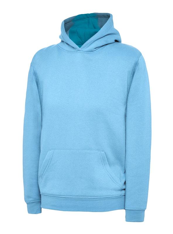 childrens hooded sweatshirt 300gsm UC503 sky