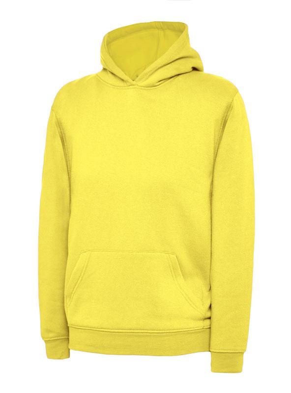 childrens hooded sweatshirt 300gsm UC503 yellow