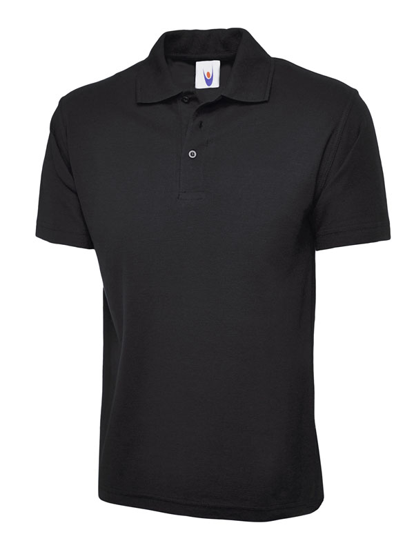 childrens polo shirt UC103 black
