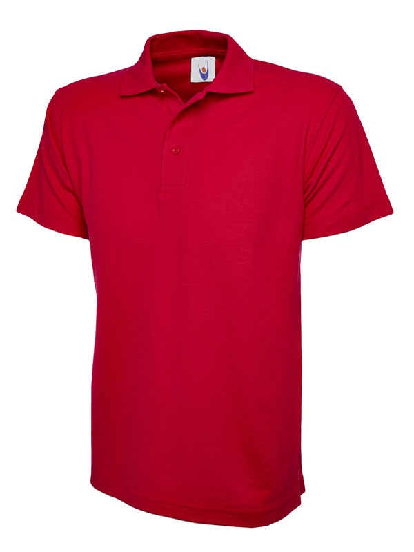 childrens polo shirt UC103 red