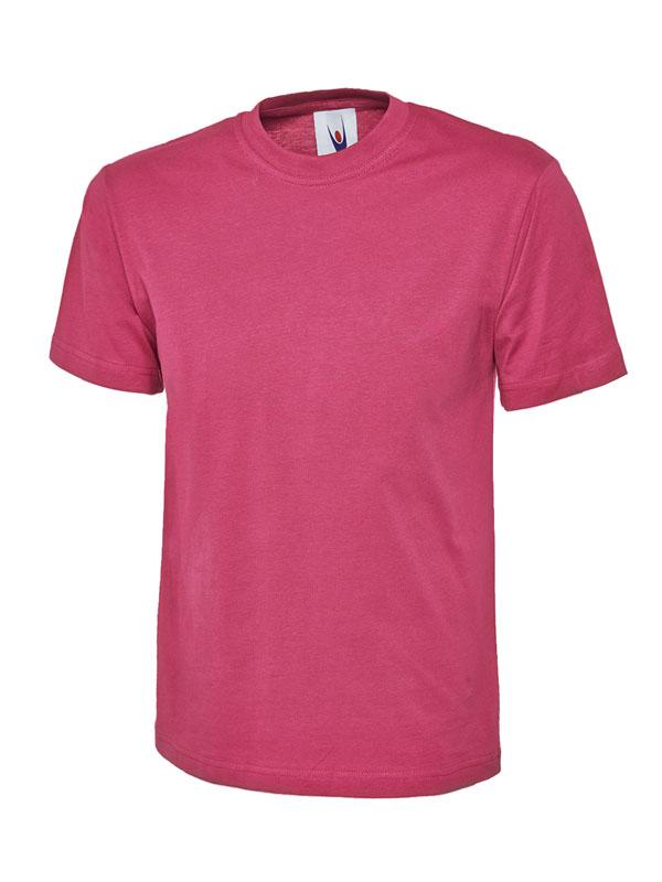 classic t shirt 180GSM UC301 hot pink