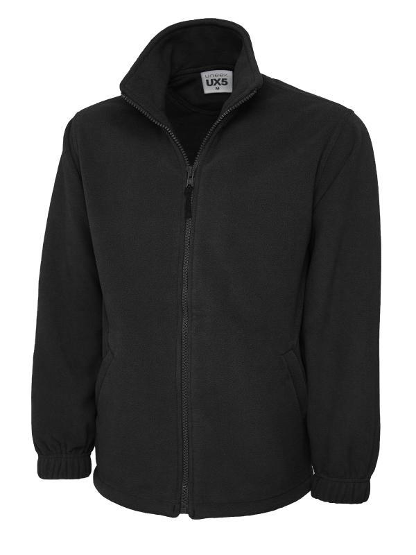 full zip fleece UX5 black