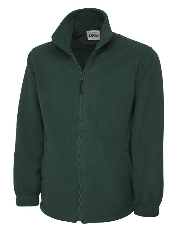 full zip fleece UX5 bot green