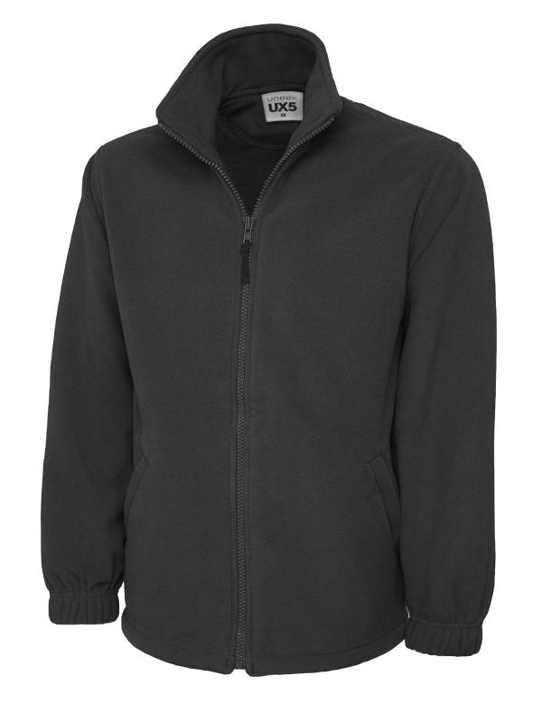 full zip fleece UX5 charcoal