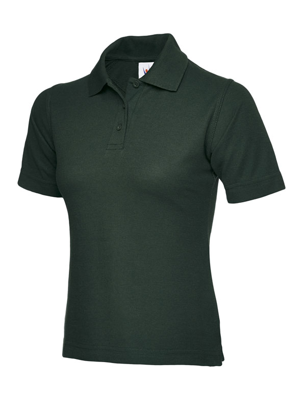 ladies pique polo shirt UC106 bottle green