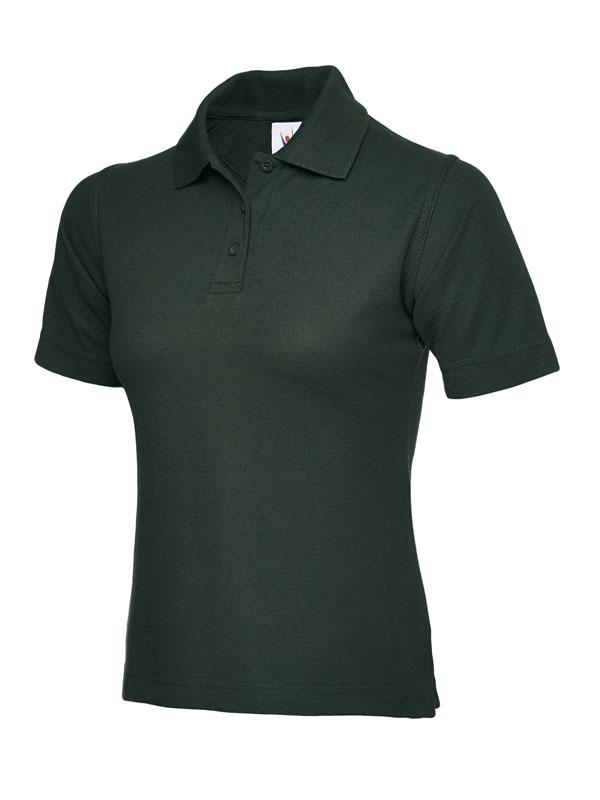 ladies pique polo shirt UC106 bottle green