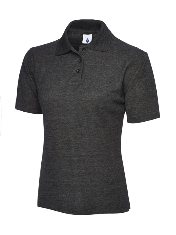 ladies pique polo shirt UC106 charcoal