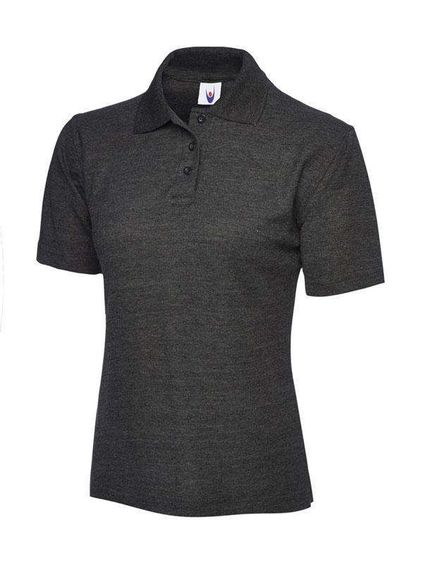 ladies pique polo shirt UC106 charcoal