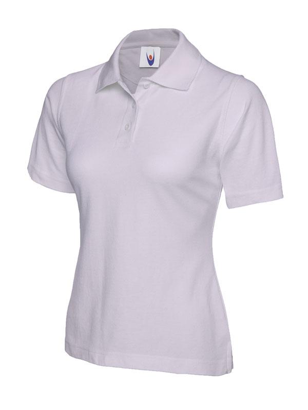 ladies pique polo shirt UC106 lilac