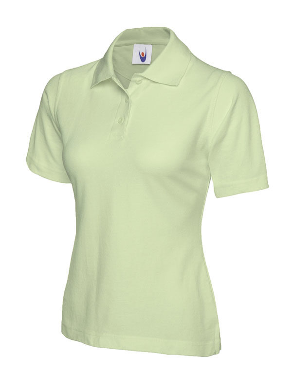 ladies pique polo shirt UC106 lime