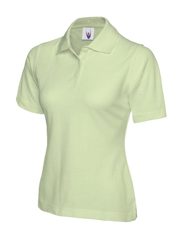 ladies pique polo shirt UC106 lime