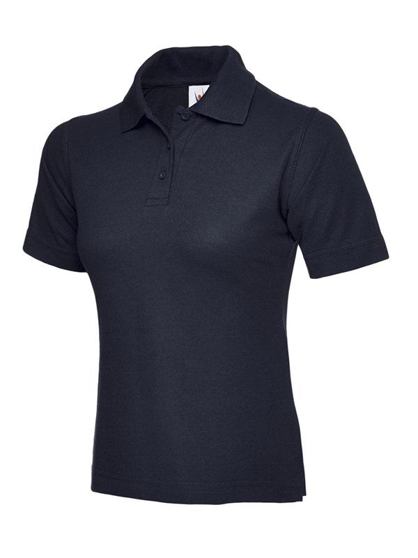 ladies pique polo shirt UC106 navy