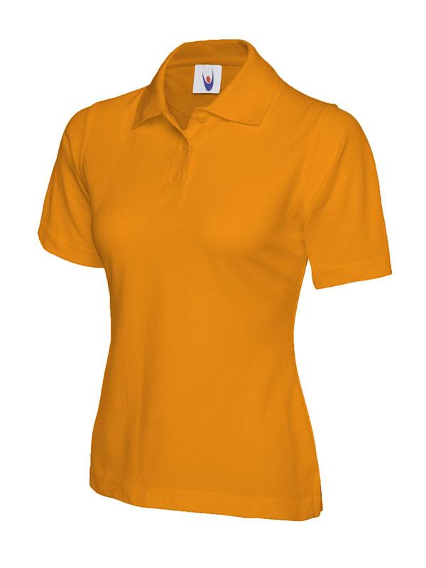ladies pique polo shirt UC106 orange