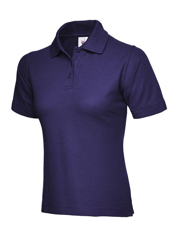 ladies pique polo shirt UC106 purple