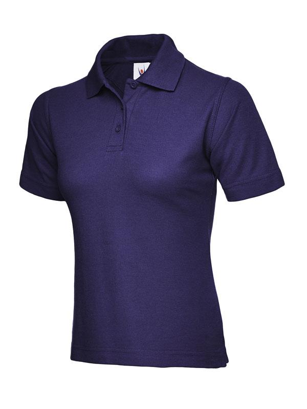 ladies pique polo shirt UC106 purple