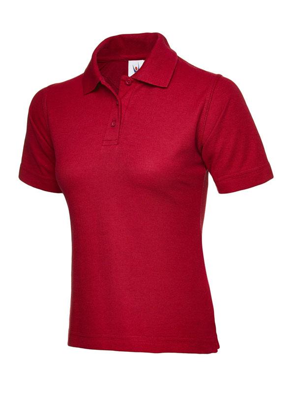 ladies pique polo shirt UC106 red