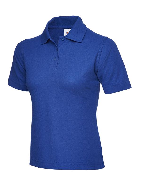 ladies pique polo shirt UC106 royal