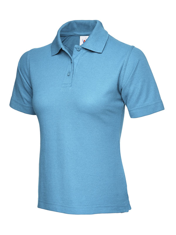 ladies pique polo shirt UC106 sky