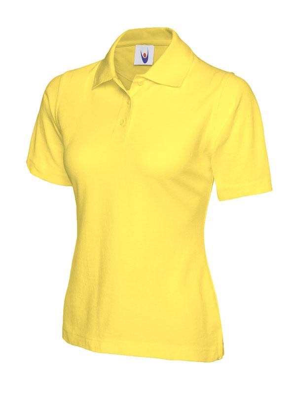 ladies pique polo shirt UC106 yellow