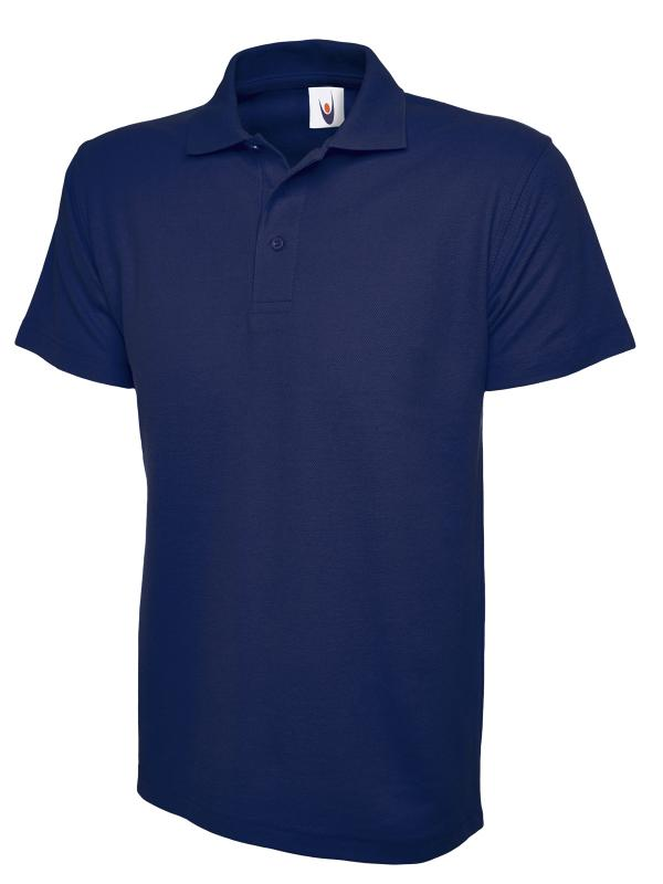 pique polo shirt UC101 french navy