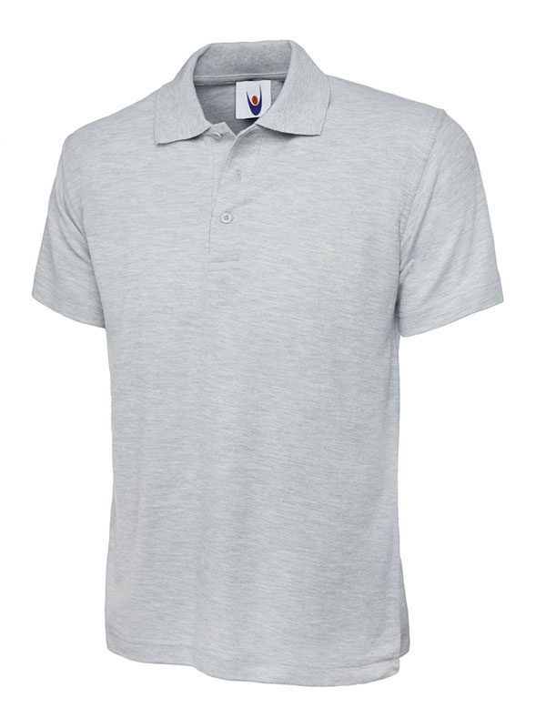 pique polo shirt UC101 heather grey