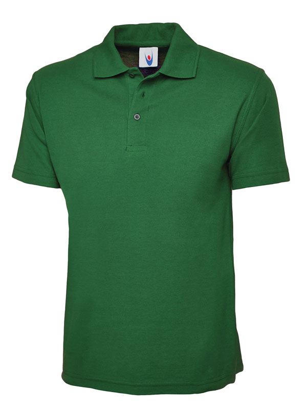 pique polo shirt UC101 kelly green