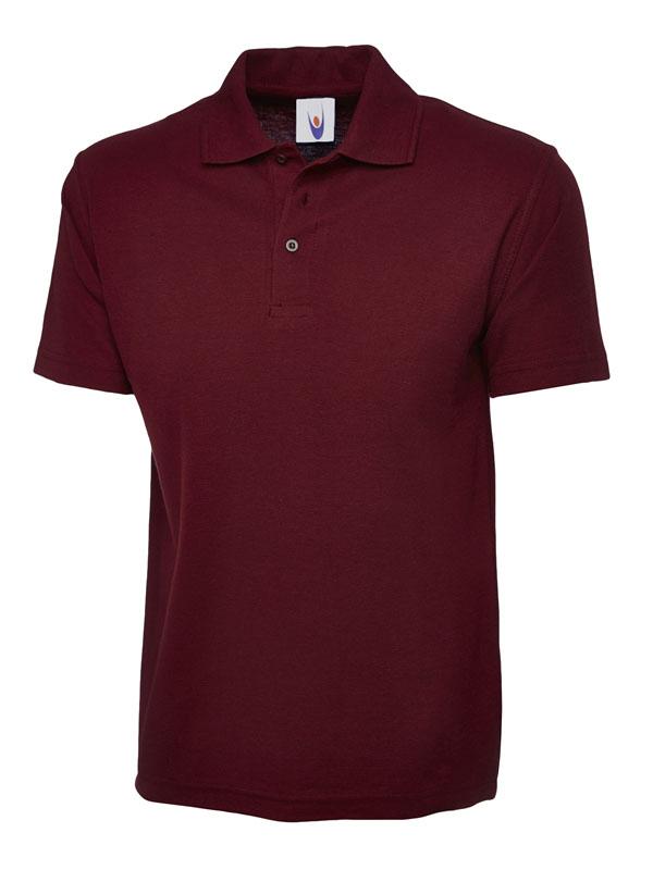 pique polo shirt UC101 maroon
