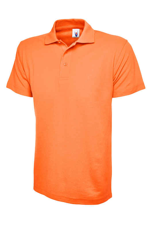 pique polo shirt UC101 orange