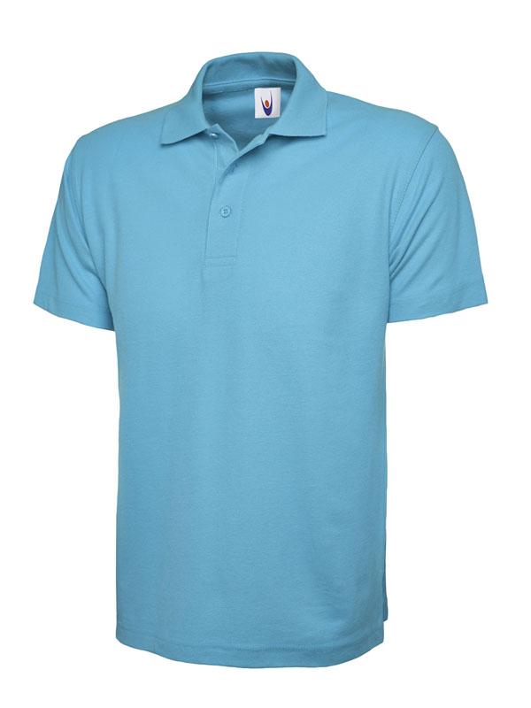 pique polo shirt UC101 sky blue