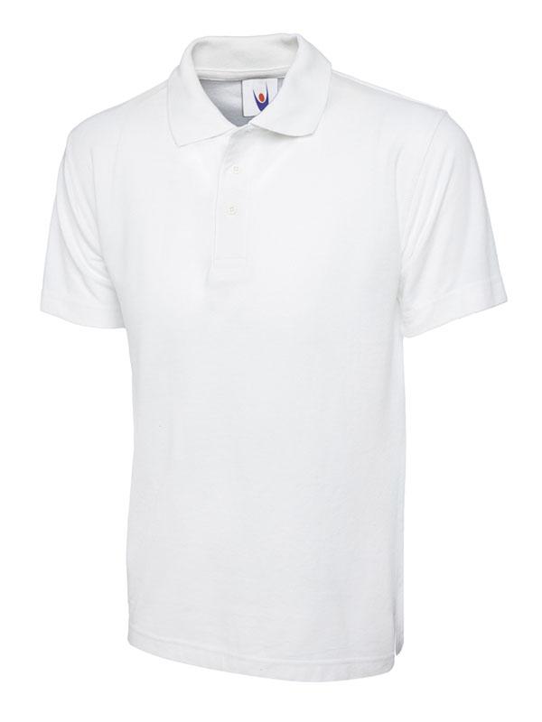 pique polo shirt UC101 white