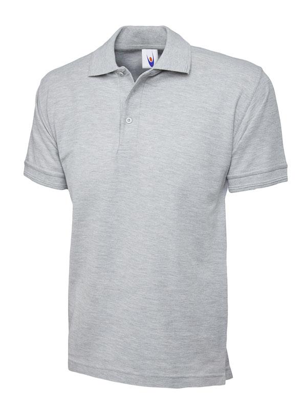 premium polo shirt UC102 heather grey