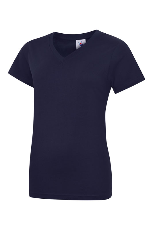womans v neck t shirt UC319 navy