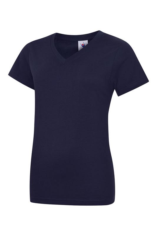 womans v neck t shirt UC319 navy