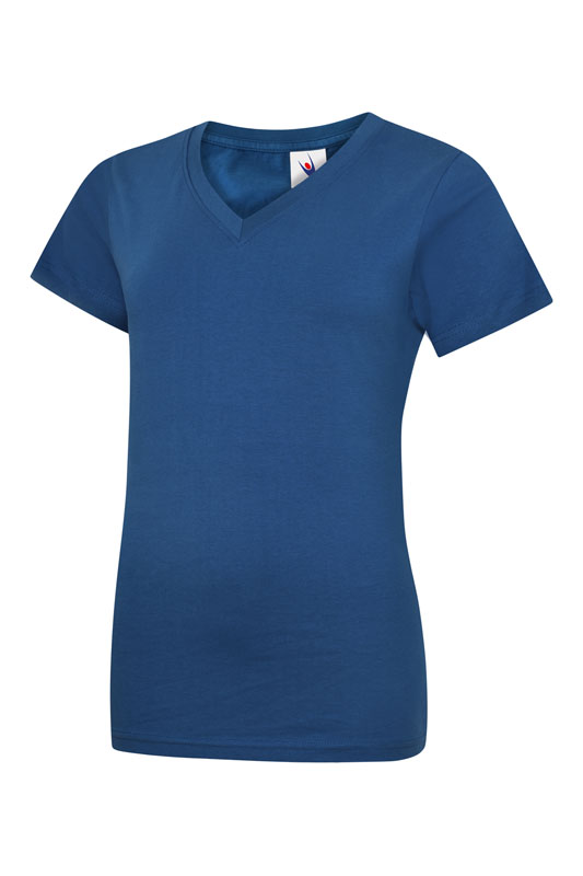 womans v neck t shirt UC319 royal