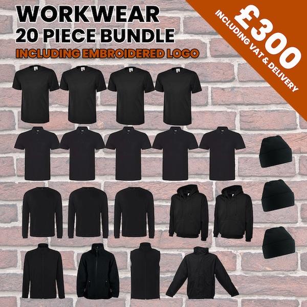 workwear 20pc bundle incl logo