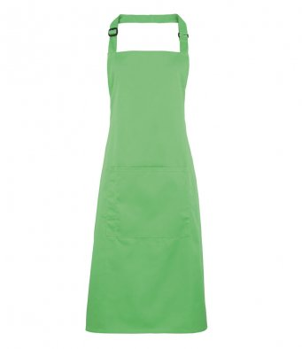 bib apron with pocket apple green