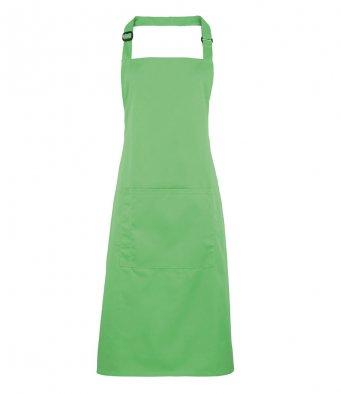 bib apron with pocket apple green
