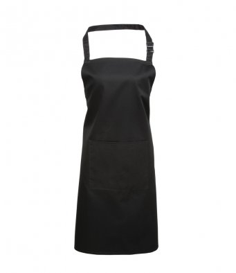 bib apron with pocket black