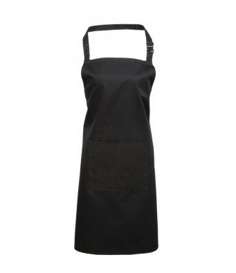 bib apron with pocket black