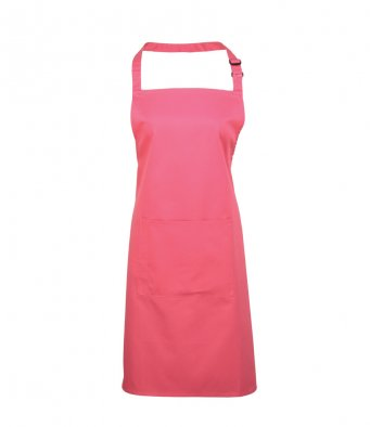 bib apron with pocket fuchsia