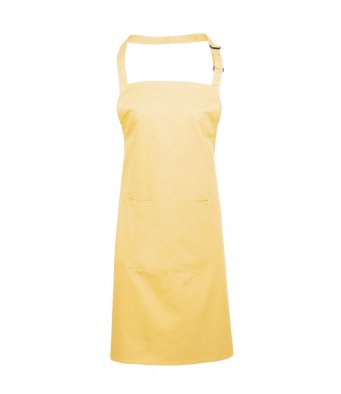 bib apron with pocket lemon
