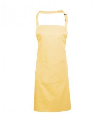 bib apron with pocket lemon
