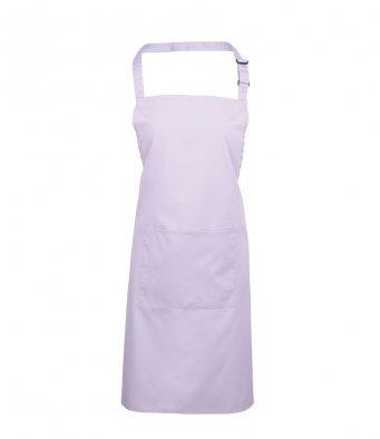 bib apron with pocket lilac