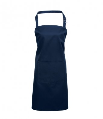 bib apron with pocket navy