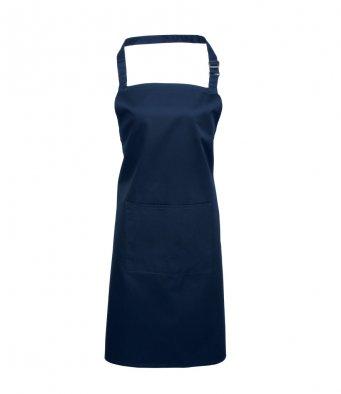 bib apron with pocket navy