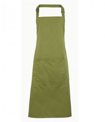 bib apron with pocket oasis green