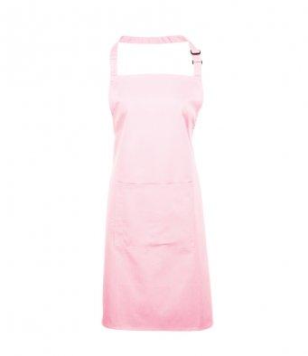 bib apron with pocket pink