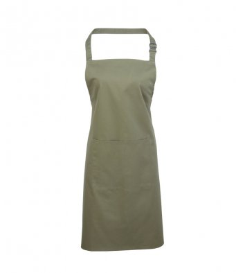 bib apron with pocket sage