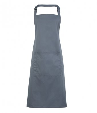 bib apron with pocket steel